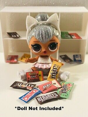 7 PC LOL SURPRISE CUSTOM FOOD ACCESSORIES Chocolate Bars Movie Candy Sweets