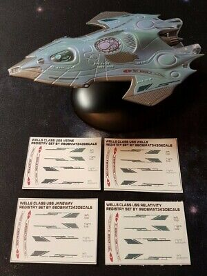 Star Trek Starships Collection EAGLEMOSS Relativity REGISTRY & WING DECALS ONLY