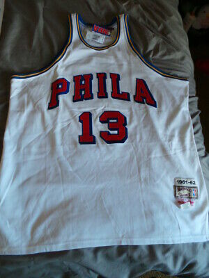 Mitchell Ness M N Wilt Chamberlain Philadelphia Warriors Authentic Jersey  52 NWT 80af9f25a