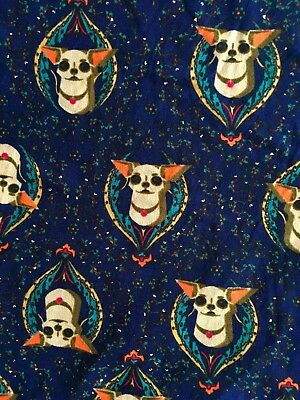 95e6a48699b2d8 LULAROE CHIHUAHUA LEGGINGS Dog TC Blue Background Navy - $54.99 ...