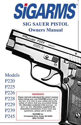SIG SAUER MOSQUITO Pistol Owners Manual - $7 89 | PicClick