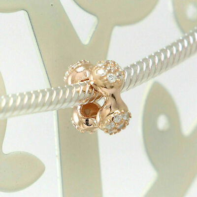 New Authentic Pandora Charms 925 Sterling Silver ALE Rose Gold CZ Bracelet Bead