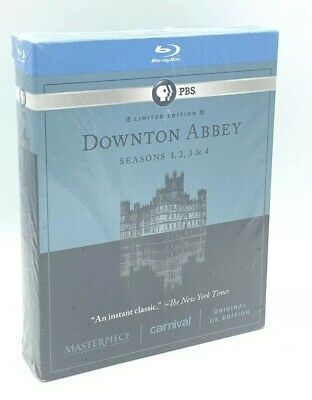 Downton Abbey - Seasons 1-4 (Blu-ray Disc, 2014, 11-Disc Set, Limited Ed.) NEW