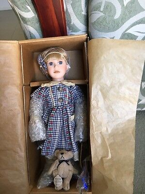 Porcelain Doll. Leah. The Boyds Collection. New In Box