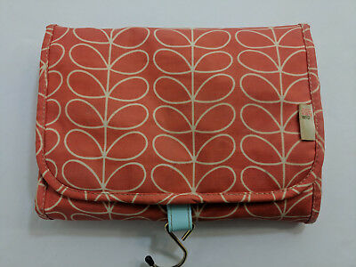 431555883c5a Orla Kiely For Target Orange White Valet Cosmetic Travel Organizer Bag Roll