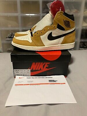17510202ed0556 AIR JORDAN 1 Retro High OG Rookie of The Year ROTY AJ1 Gold Harvest ...