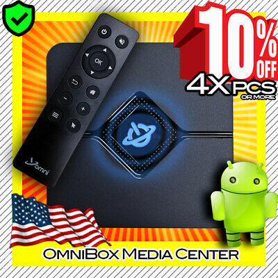Omni 9X Core Mini PC Streaming Media Hub Device Android TV Box - 4K HD / WiFi