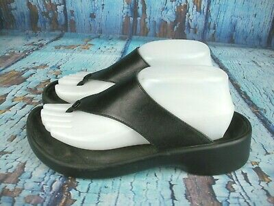 6505412182a TATAMI BY BIRKENSTOCK Black Thong Sandals Shoes Women s Size  39   8 ...