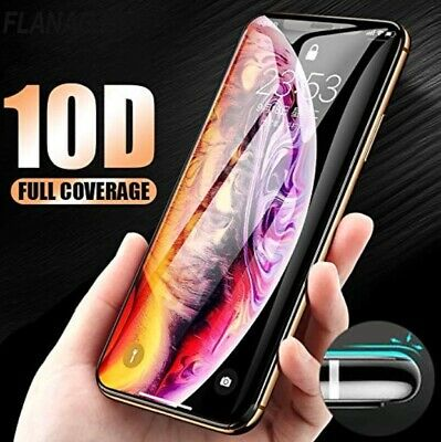 Apple iPhone XS Max XR X 10D Tempered Glass Screen Protector Real Full Coverage