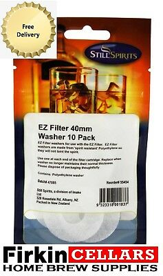 Still Spirits EZ Filter 40mm Foam Washer 10 Pack For Home Brew Water Distilling