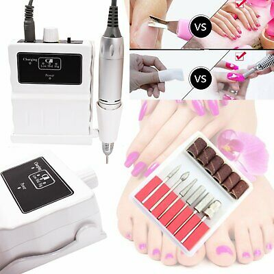 Rechargeable 30000RPM Portable Manicure Nail Art Drill File Cordless Machine AU