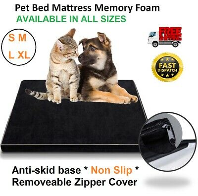 Pet Dog Bed Memory Foam Mattress Small Medium Large XLarge Cat Animal Bedding