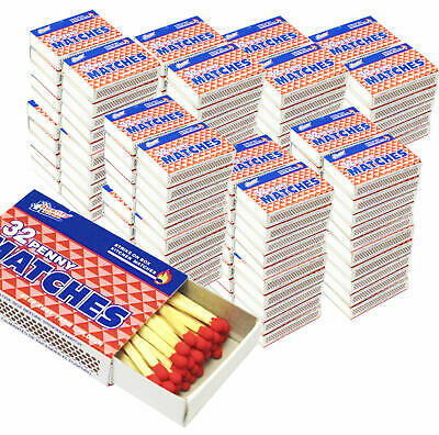 100 Boxes - Matches 32 Count Per Box Strike On Box Kitchen Camping Fire