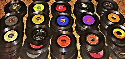YOU SELECT 25 Disc Lot Variety 45 rpm Vinyl Records JukeBox 45's GENRE & DECADE