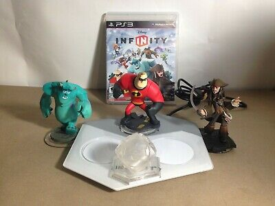 Disney Infinity PS3 Starter Pack Game 3 Figures Portal Base Crystal Playset 1.0