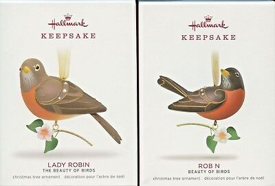 New Robin & Lady Robin (Limited Edition)  2018 Hallmark Keepsake Ornament Set