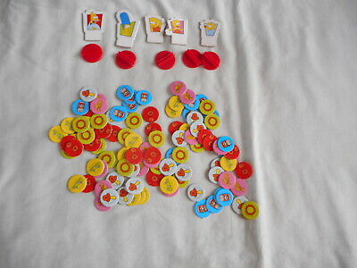 The Simpsons Board Game - Player tokens with stands and game tokens/discs