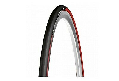 Pneu Vélo route MICHELIN LITHION 3 700x23 ou 700x25 Noir/Rouge