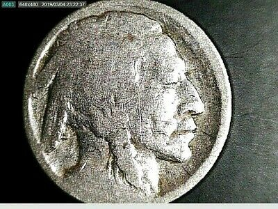 1913 S  Buffalo Nickel Raised Mound Type 1. **LOW MINTAGE** No Date
