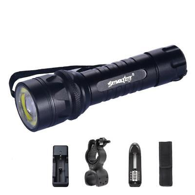 15000LM X-XML T6 +COB LED Torch +Charger + Bicycle Holder Clip +Torch Pouch BT