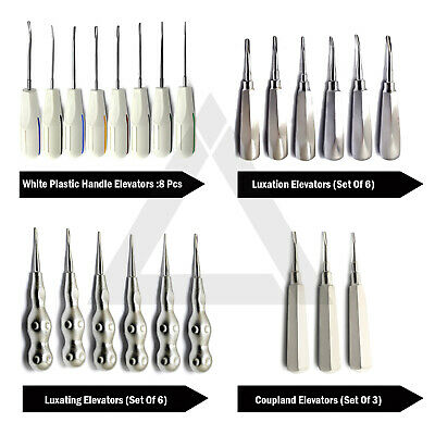 Range Of Luxating Tooth Extracting Root Elevators Dentistry Surgical Instruments