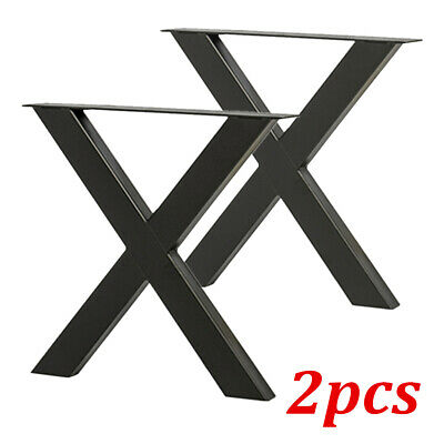 New 2X Dinning Table Legs Industrial Retro X Shape Design Steel Legs Height 71cm