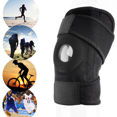 ALS_ HK- 1 Pc Outdoor Adjustable Strap Elastic Patella Knee Support Brace Sleeve