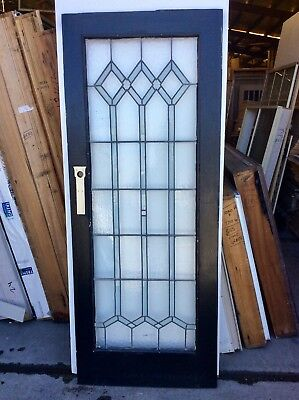 Leadlight Full Glass External  Door