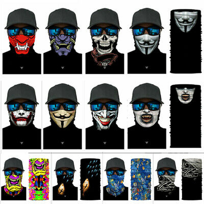 3D Multi-fun Face Mask Sun Mask Neck Gaiter Skull Fishing Scarf Headwear 2019