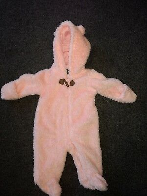 fc7680eca Infant Baby Girl 3 Months Snowsuit Pink Sherpa Carter's Excellent Condition  #357