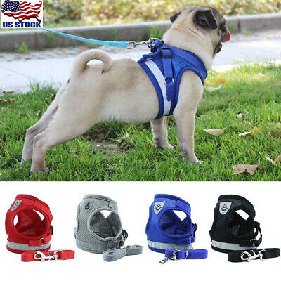 Nylon Service Dog Vest Harness Patches Reflective Small Large Medium XS-XL