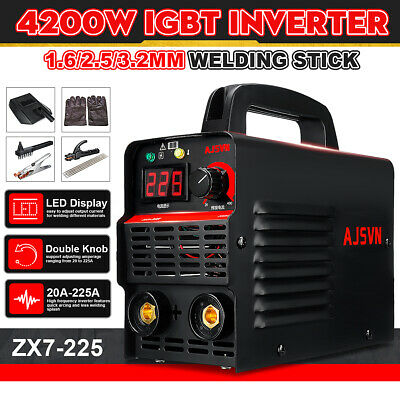 220V 225A ARC Force MMA Stick Welder IGBT Welding Inverter Machine 10PCS Kit Set