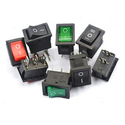KCD1-101 Rocker Button Switch 6A 250V 2-6 Pins 21x15mm for Household Equipment