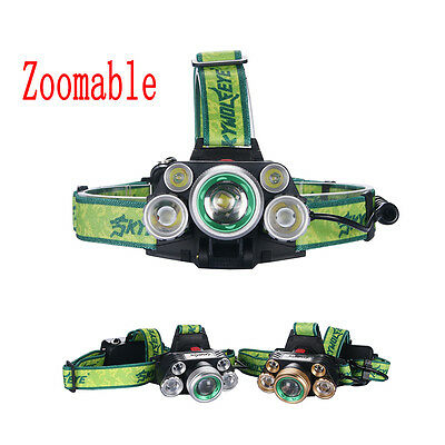 SKYWOLFEYE X-M-L LED 80000 Lm Headlight Rechargeable USB Zoom Lamp BT
