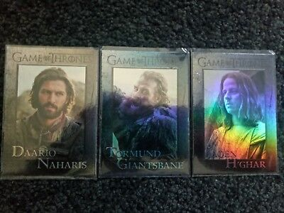 GAME OF THRONES SEASON 6 x 3 LOT of Foil Parallels Tormund