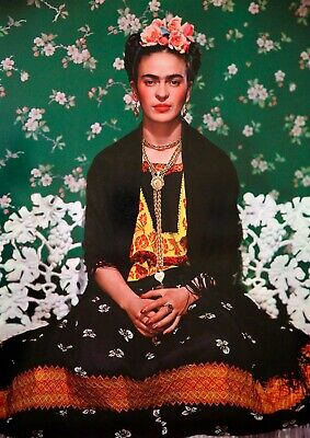 Frida Kahlo Gloss  Mexican Artist Beautiful Painting Art Poster -  A4 Size