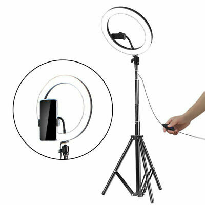 "10""LED Ring Light w/ Stand Dimmable LED Lighting Kit For Makeup Youtube Live UK"