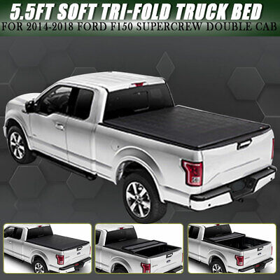 Promaxx Automotive Soft Tri Fold Tonneau Cover Fits 02 16 Dodge Ram 5 5 Bed