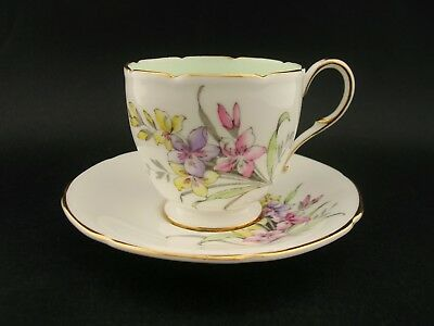 PARAGON Floral Bouquet Vintage English Bone China DEMITASSE TEA CUP & SAUCER