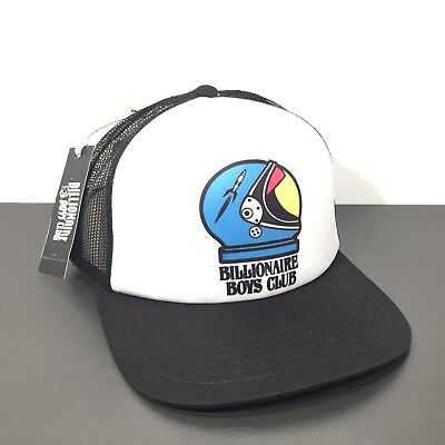 BILLIONAIRE BOYS CLUB Black White Space Helmet Logo Snapback Mesh Trucker  Hat dffc3ae3f6b