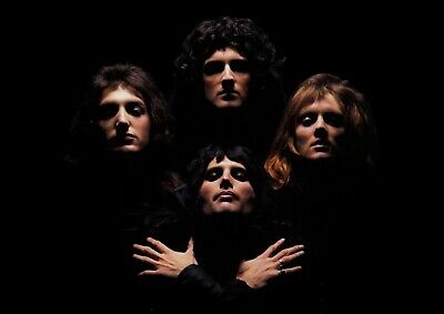 Queen Bohemian Rhapsody Famous Rock Band Art Poster - A4 Size