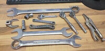 Aircraft Tools Job Lot Of Sockets Spanners Ratchets Crowfoot Pliers