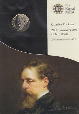 2012 Brilliant Uncirculated Charles Dickens 200th Anniversary £2 Coin BU