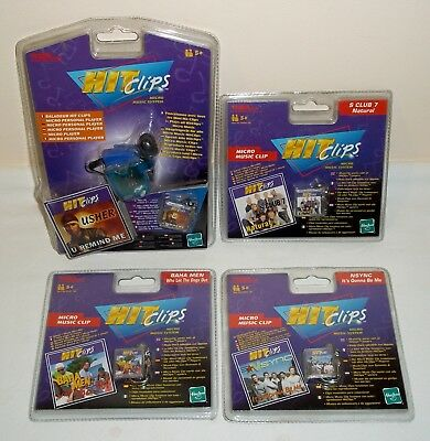 Lotto lettore vintage Micro Personal Player HIT CLIPS + 4 Micro Clips