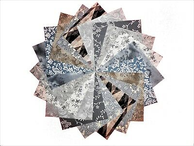 """10 10""""Quilting LAYER CAKE Squares Ashes to Ashes/Beautiful Grays/ BUY IT NOW!!"""