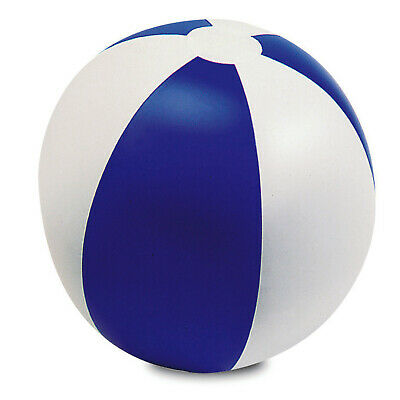 """Blue 9"""" Inflatable Blow up Colour Panel Beach Ball Holiday Swimming Garden Toy"""