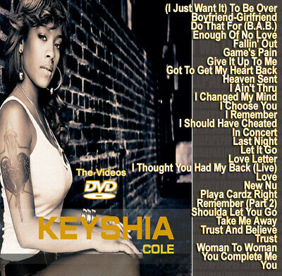 Keyshia Cole DVD MUSIC VIDEOS HIP HOP R&B RAP DVD