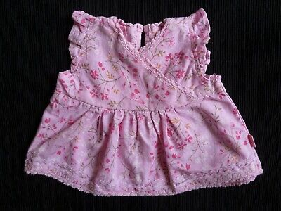 Baby clothes GIRL newborn 0-1m 56cm/22in cute pinks floral dress/top SEE SHOP!