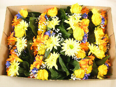 12x Wholesale Artificial Flowers Lily Rose Gerbera Iris Gypsophila Arrangement