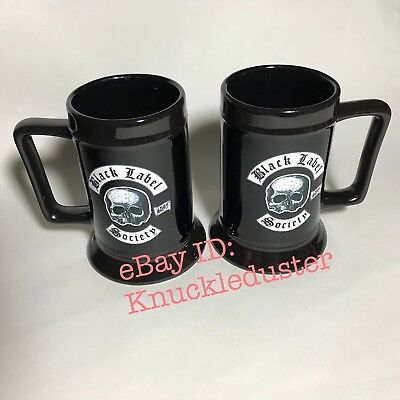 a2d91c8712b5f 2 MUGS Black Label Society His Hers Skully Mugs Zakk Wylde 2018 - NOT Death